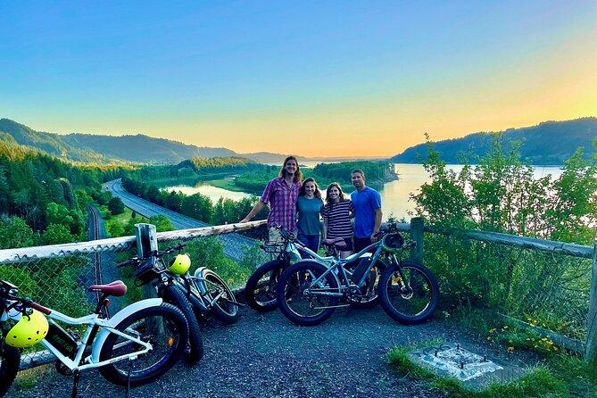Multnomah Falls Sunset E-Bike Waterfall Adventure
