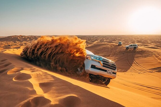 Red Dunes Desert Safari with 4x4 Pick up & Drop, Camel ride, BBQ and Live shows