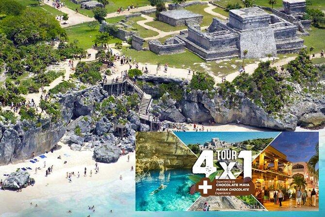 4x1 Tour Tulum and Coba with Cenote, Playa del Carmen, Aldea Maya All Inclusive