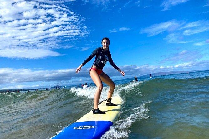 Group Surf Lesson at Kalama Beach in Kihei
