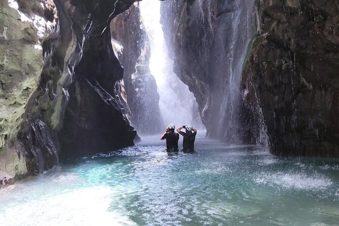 Canyoning in the water and beach - Kourtaliotiko Gorge, Preveli palm beach