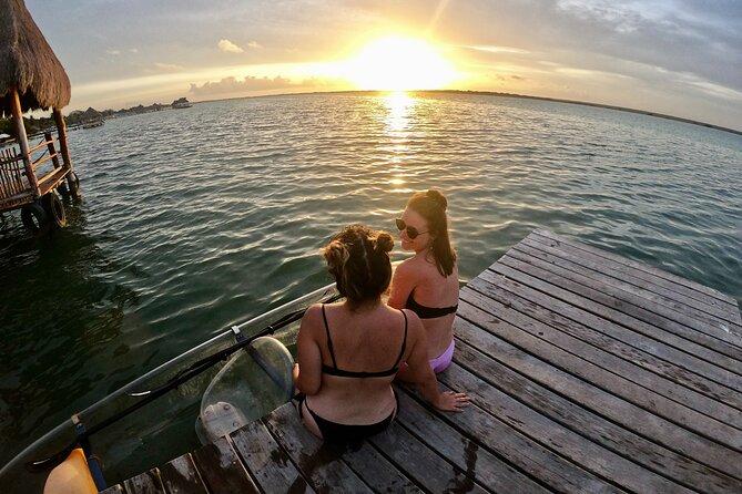 Bacalar Sunrise in Transparent Kayak