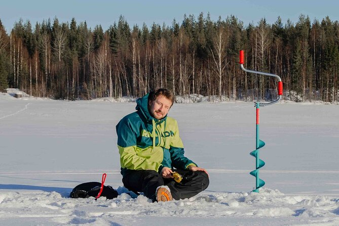 First Ice Fishing Experience in Rovaniemi