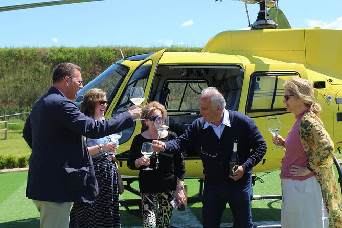 Helicopter Wine Tour with Pickup in Italy