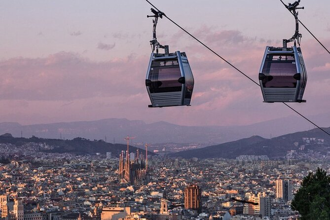 Montjuïc 2-Hour Private Self-Guided Audio Tour with Cable Car Ticket