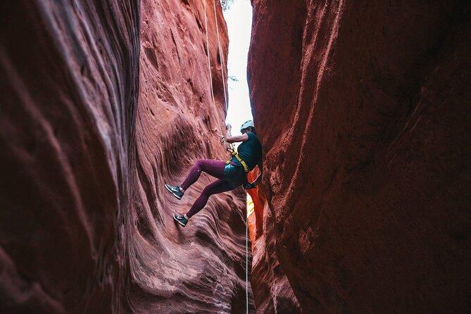 Half Day Slot Canyon Canyoneering near East Zion