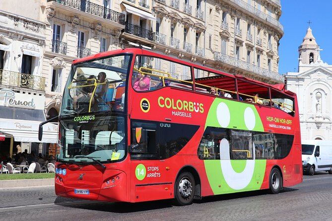 Colorbüs: Marseille Tourist Tour by Hop-On Hop-Off Panoramic Bus