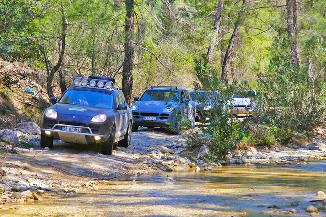 Canyoning Adventure. Safari around Koycegiz with Porsh Cayenne. From Marmaris