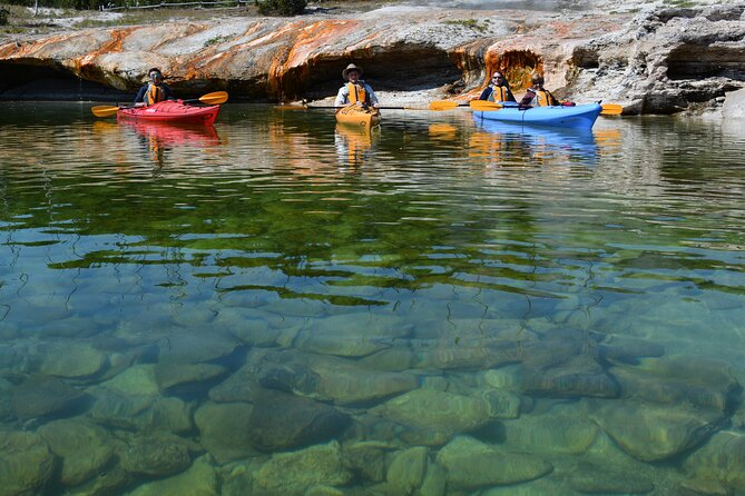 Lake Yellowstone Half Day Kayak Tours Past Geothermal Features
