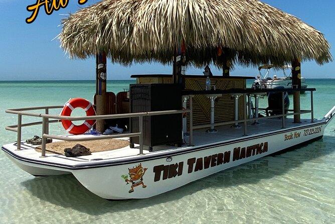 Private Tiki Boat Charter in Tarpon Springs.