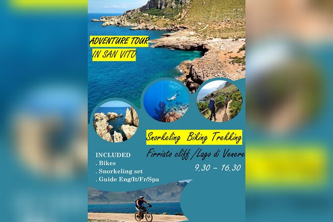 Biking and Trekking Tour around San Vito lo Capo with Snorkeling