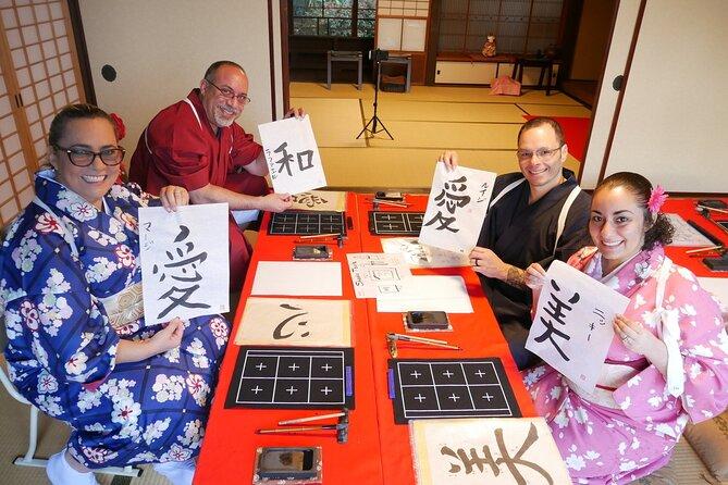 Kimono and Calligraphy Experience in Miyajima