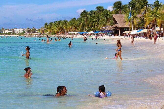 Isla Mujeres Catamaran Tour with Snorkeling at MUSA, Buffet Lunch & Open Bar