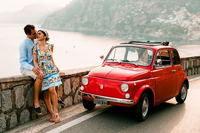 Photographic tour on the Amalfi Coast with vintage Fiat 500