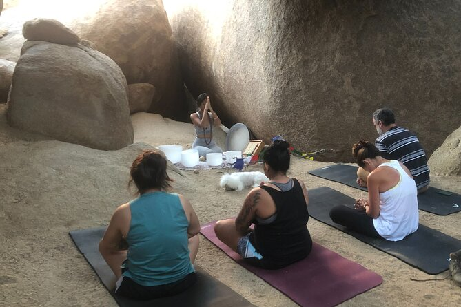 Desert Nature Walk + Soundbath & Meditation in a Boulder Cave