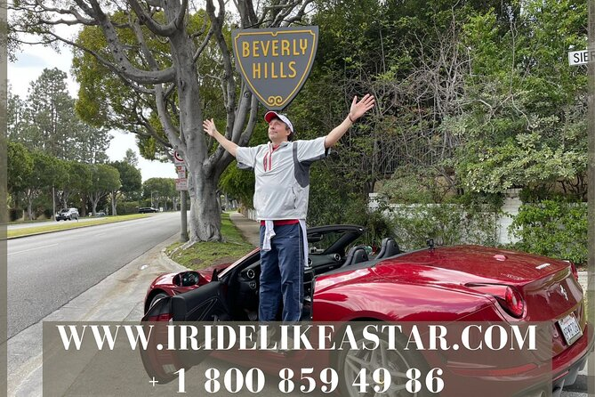 1-Hour PRIVATE Ferrari California Driving Tour From Hollywood to Beverly Hills