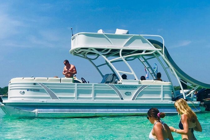 Private Chartered Slide Pontoon Boat-Up to 6 Guests