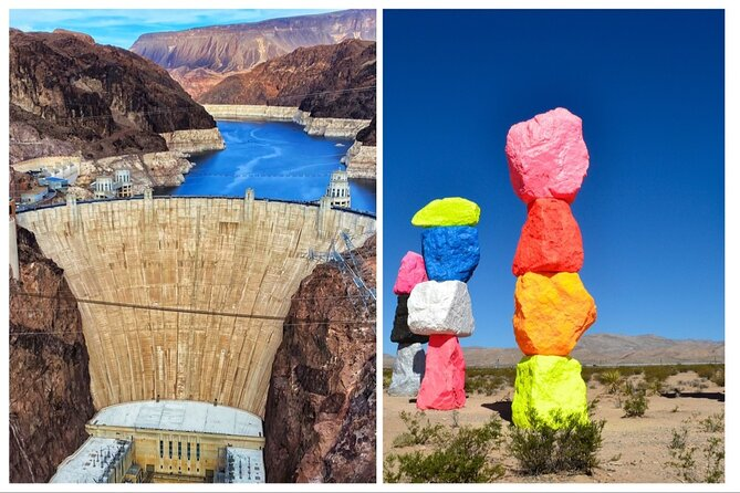Hoover Dam Walk On Top Tour with Seven Magic Mountains