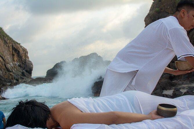 Vibrational Massage with Tibetan Bowls on the Beach