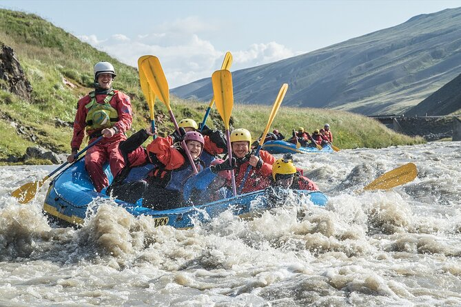 Family Rafting Day Trip from Hafgrímsstaðir: Grade 2 White Water Rafting on the West Glacial River