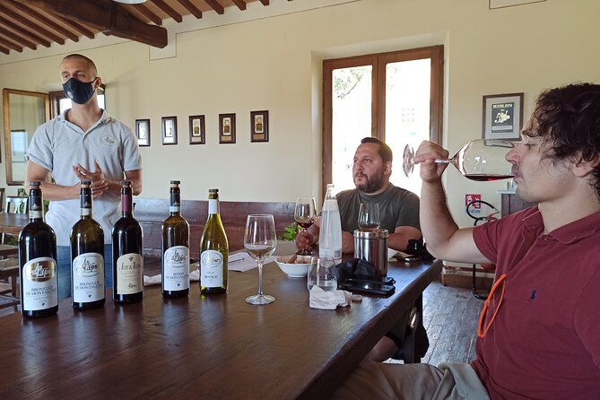 From Florence:Val d'Orcia Wine tour,Brunello Montalcino,Pienza and Montepulciano
