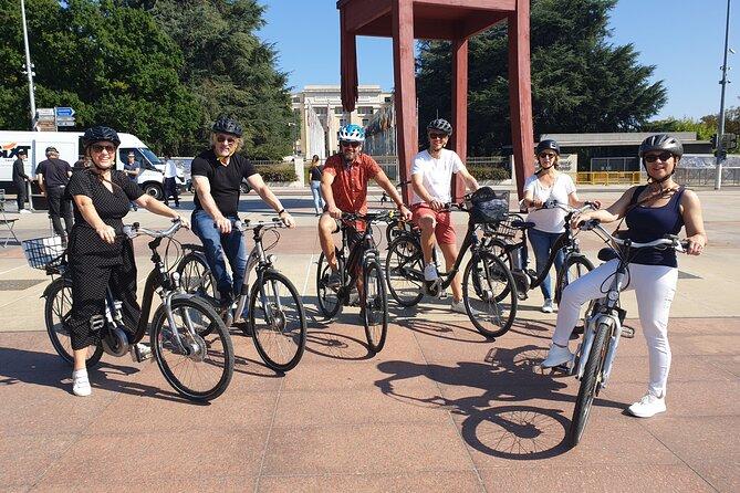 Geneva E-Bike Express Tour United Nations Leman Lake and Jet D'Eau