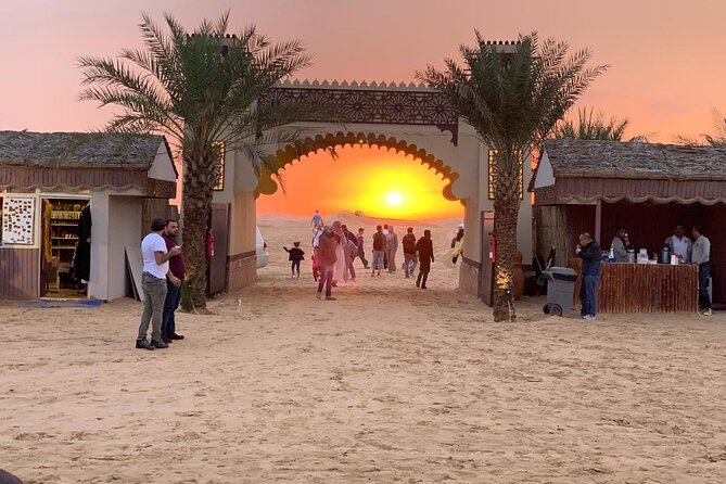 Evening Desert Safari With BBQ Dinner, Camel Ride and Sand Boarding