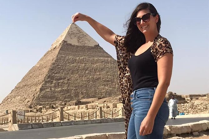 All inclusive Giza pyramids Sphinx Egyptian Museum Camel Ride Shopping tour