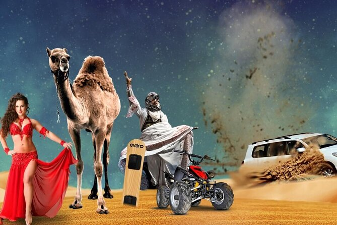 Desert Safari With BBQ Dinner, Quad Bike And Camel Ride Experience