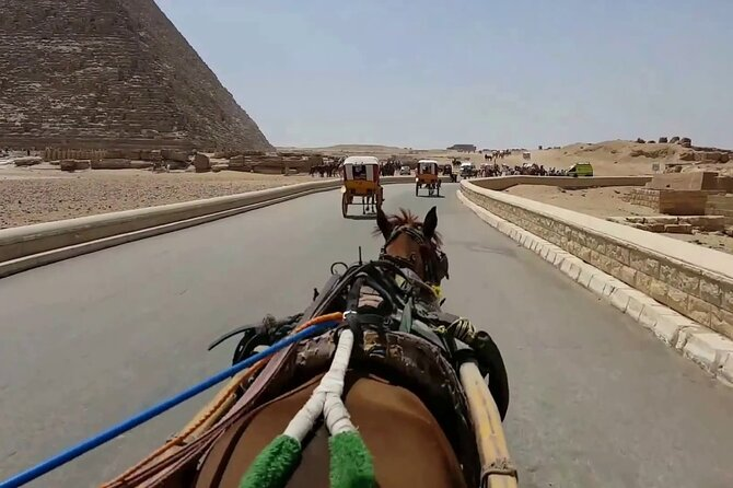 Top Attractions Tour in Giza Pyramids And Horse carriage With panoramic view