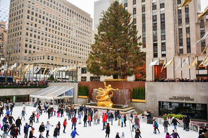 Ice skating Rockefeller Center New York City