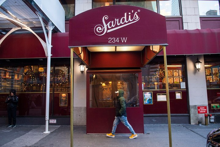 Exterior of Sardi's, an institution for pre- & post-theater Italian meals