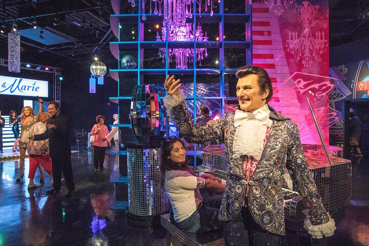 Close-up of a waxwork of Vegas legend Liberace at Madame Tussauds in Las Vegas