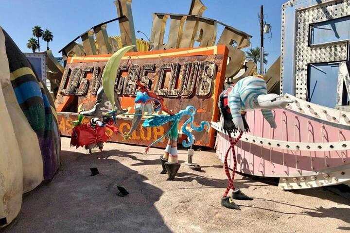 Exhibits in the Boneyard at the Neon Museum in Las Vegas, Nevada