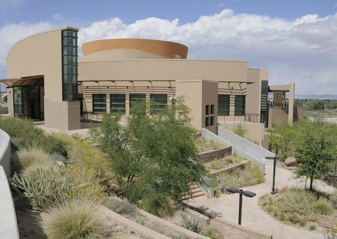 Exterior shot of the Nevada State Museum at Las Vegas Springs Preserve, Nevada
