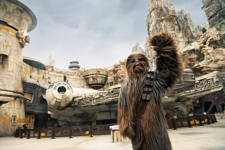 """Chewy character outside the """"Star Wars"""" attractions at Disney's Hollywood Studios®"""