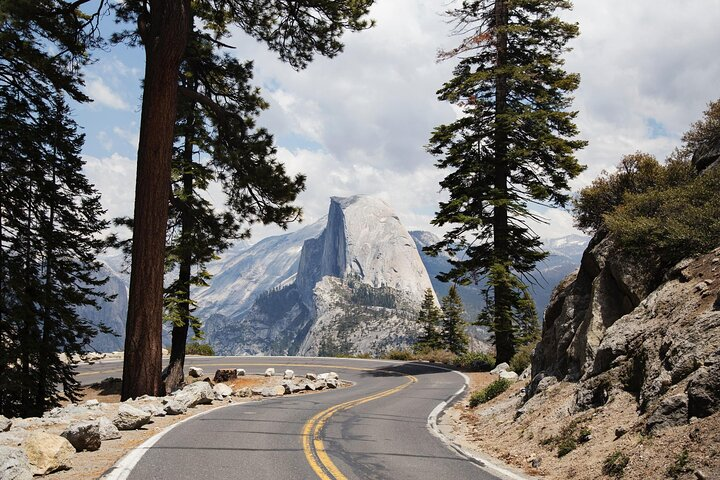 Half Dome as seen from Yosemite's Glacier Point Road