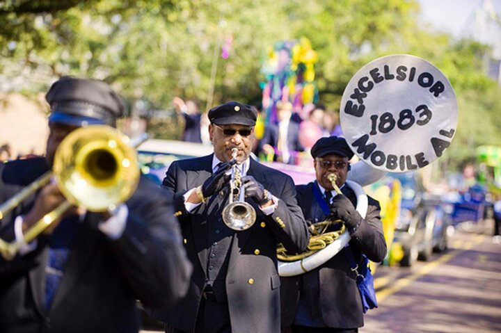 The Excelsior Band performing in Mobile, Alabama