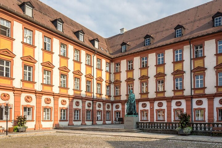 The Old Castle courtyard in Bayreuth, Germany.