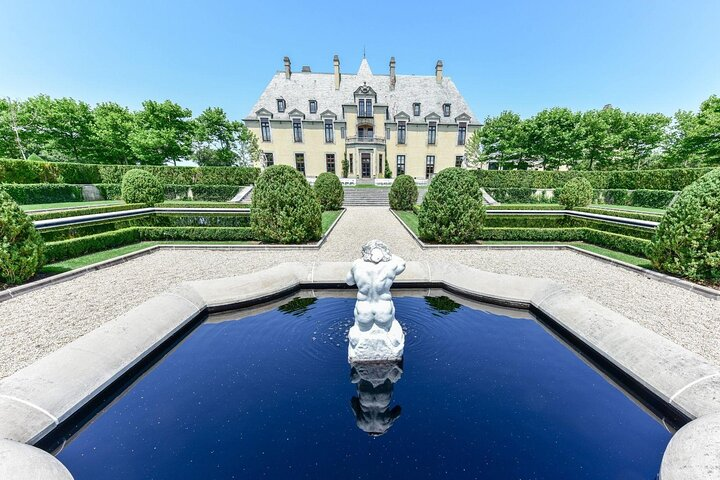 Oheka Castle in Huntington, NY seen from the grounds.