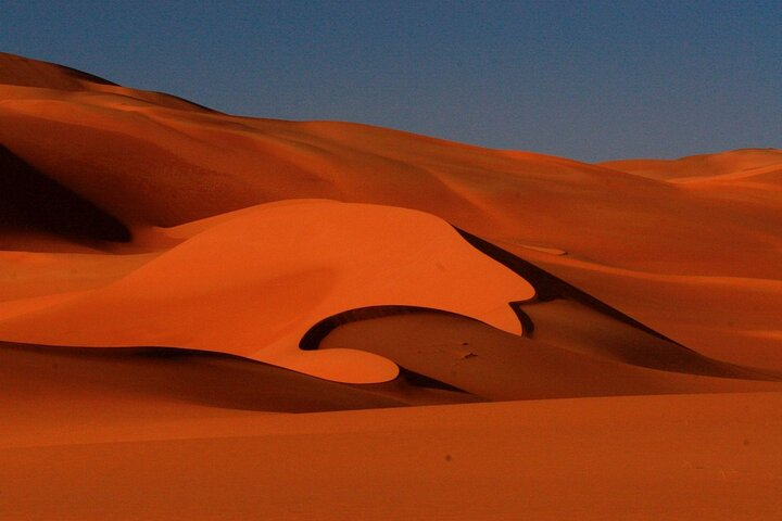 Sand dunes in the Murzuk (Murzuq) region of the Libyan Desert, Libya.