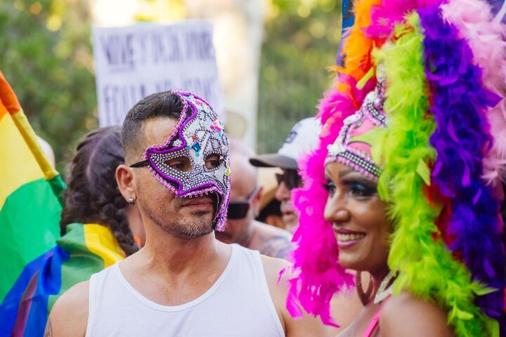 Participants at Madrid's Pride Parade in Spain.