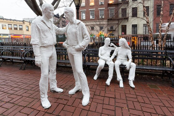 The Gay Liberation statue in Christopher Park, NYC.