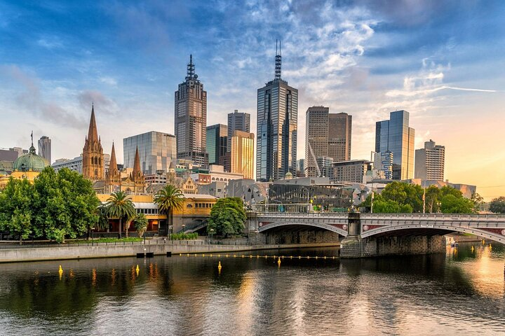 Melbourne CBD (central business district) from across the water.