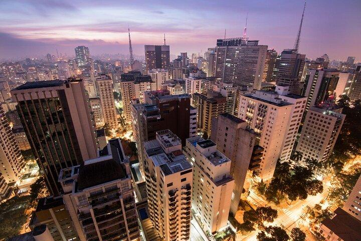 An aerial shot of São Paulo, Brazil.