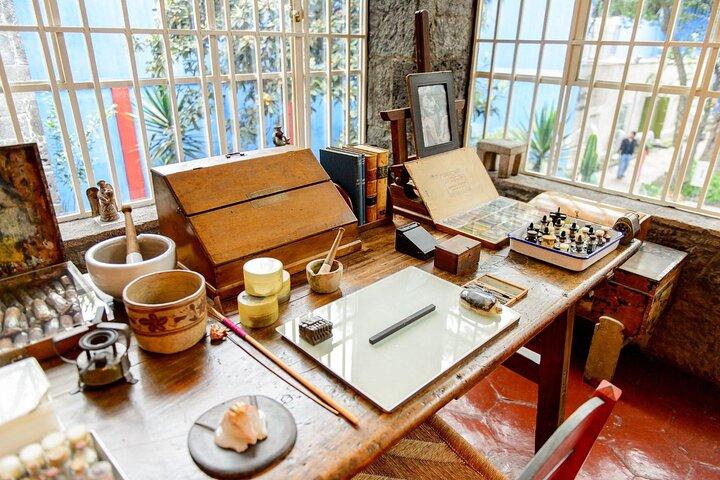 Frida and Diego's Casa-Estudio in San Ángel, Mexico City, Mexico.