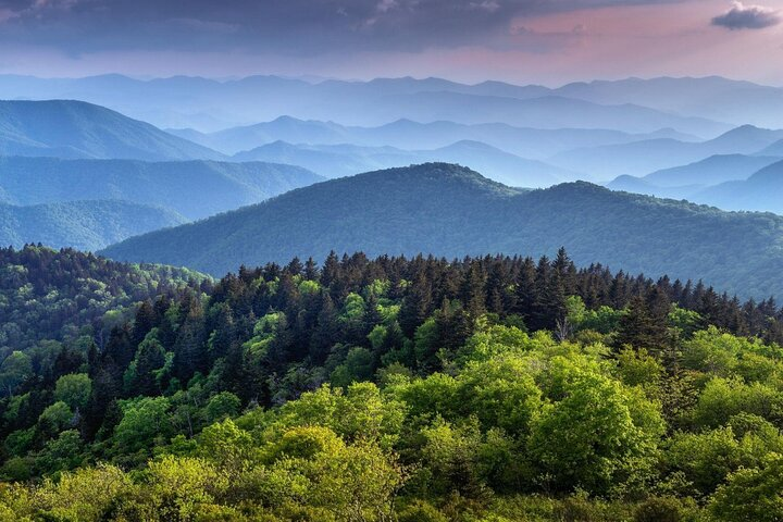 The peaks of the Great Smoky Mountain National Park.