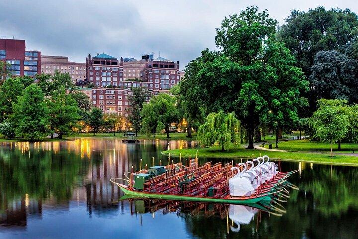 Swan boats in Boston's Public Garden, Massachusetts.