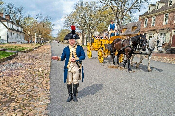 A performer at Colonial Williamsburg, Virginia.