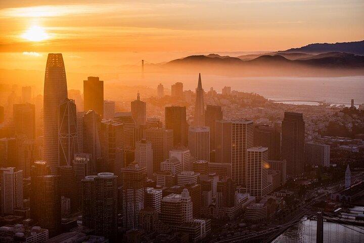 An aerial view of downtown San Francisco, California